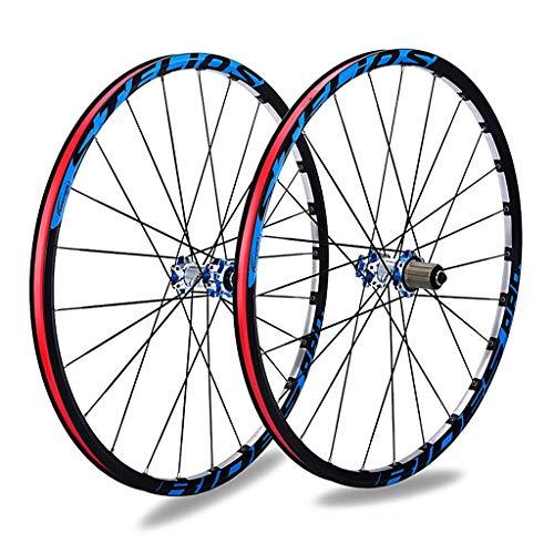 YBNB Ruedas De Ciclismo 26'27' Bicicleta De Equilibrio Llanta De Doble Pared 9,10,11 Compartimento Cassette 1834 G/Par