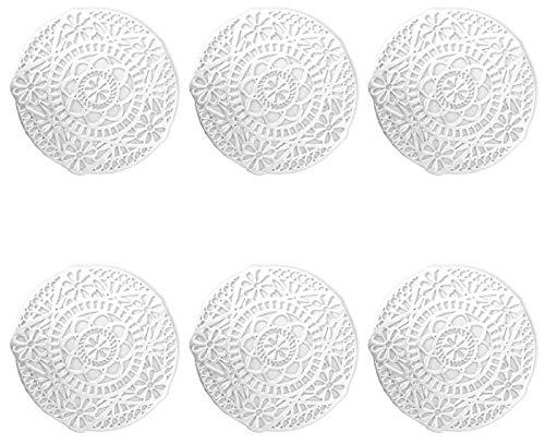 ASFINS Sottobicchieri Argento, 6 Pezzi Sottobicchieri Dorati Sottobicchieri Vinile Sottobicchiere Antiscivolo Sottobicchieri Tappetini isolanti in PVC, per Tavolo, Pranzo, Cucina (12cm x 12cm) -A