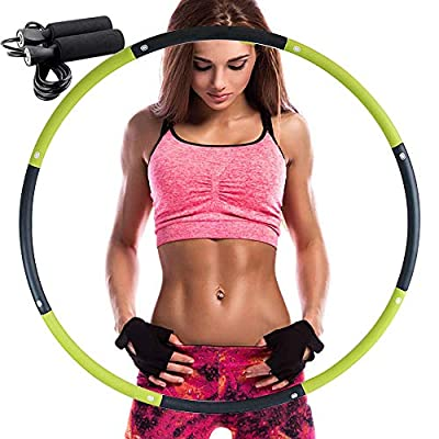 REDSEASONS Hula Hoop for Adults?Lose Weight Fast by Fun Way to Workout,Easy to Spin, Premium Quality and Soft Padding Hula Hoop?with Free Accessory Skipping Rope from REDSEASONS