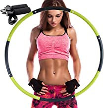 REDSEASONS Hula Hoop for Adults,Lose Weight Fast by Fun Way to Workout,Easy to Spin, Premium Quality and Soft Padding Hula Hoop,with Free Accessory Skipping Rope(Green)