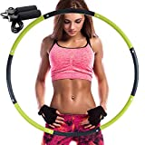 REDSEASONS Hula Hoop for Adults,Lose Weight Fast by Fun Way to Workout,Easy to Spin, Premium Quality and Soft Padding Hula Hoop,with Free Accessory Skipping Rope