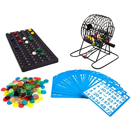 Bingo Family Game Set Markers Travel size Complete Set: Cage Balls Cards