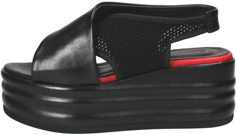 FABBRICA DEI COLLI Sandalo In Pelle schwarz, schwarz, 36