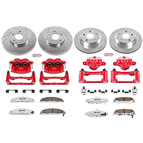 Power Stop K1548-26 Front & Rear Z26 Street Warrior Brake Kit Chevrolet Pontiac