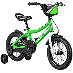 This Schwinn Koen boy's bike with 14-inch wheels is designed for children 3 - 4 years old or 36 - 40 inches tall. The Koen is the perfect choice for both established and young riders alike, giving the them the perfect platorm to progress their riding...