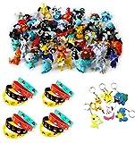 【Matériel】Les bracelets sont fabriqués avec du silicone de haute qualité. Sûr, non toxique, doux et flexible. 【Paquet】Cet ensemble Pokémon comprend des 48 pièces Pokémon Mini Figures Action Figurines, des 16 pièces bracelets Pokémon et des 6 pièces P...