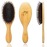 Boar Bristle Hair Brush - Hair Brushes for Women & Mens...
