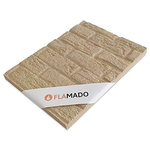 Flamado Vermiculiteplatten Antik Muster 1000 x 610 x 25mm I Schamotte Ersatz I Kaminofen Ersatzteile Feuerfeste Steine