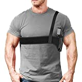 XAegis Shoulder Holster Under Arm Deep Concealment Gun Holster for All Pistols Right and Left Hand Breathable Neoprene