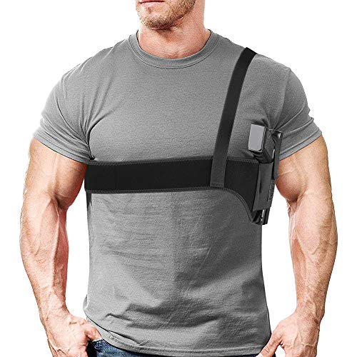 XAegis Shoulder Holster Under Arm Deep Concealment Gun Holster for All Pistols Right and Left Hand Breathable Neoprene