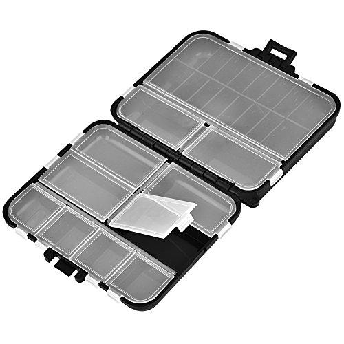 Alomejor Angelgerät Box Wasserdichter Angelköder für Angelhaken Aufbewahrungsbox Etui Container