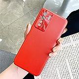 Zhangl Fundas Huawei For Huawei Nova 7SE Todo Incluido Puro pigmentado Cuero del teléfono Caso con Protección de la Lente (Naranja) Fundas Huawei (Color : Red)