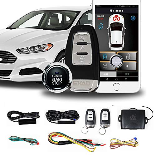 Remote Starter for Cars One Key Engine Start PKE Passive Keyless Entry for Car Remote Key or Phone Control