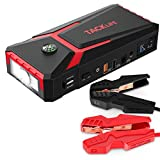 TACKLIFE T8 800A Peak 18000mAh Car Jump Starter with LCD Display (up to 7.0L Gas, 5.5L Diesel Engine), 12V Auto Battery Booster with Smart Jumper Cable, Quick Charging