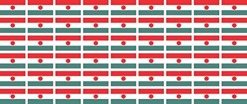 Mini Aufkleber Set - Pack glatt - 20x12mm - Sticker - Niger - Flagge - Banner - Standarte fürs Auto, Büro, zu Hause & die Schule - 54 Stück