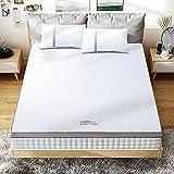 BedStory [Nouvelle Technologie] Surmatelas 180x200 à Mémoire de Forme de 7.5cm, Surmatelas Gel Rafraichissant, Housse Lavable et Mousse Prémium