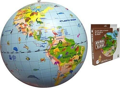 Aufblasbarer Globus, Tiere der Welt