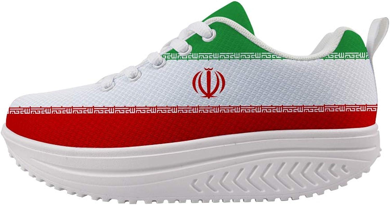 Owaheson Swing Platform Toning Fitness Casual Walking shoes Wedge Sneaker Women Iran Flag