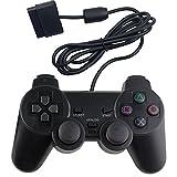 RGEEK 有線 PS2 対応 アナログコントローラー playstation2 用 ゲームパッド (オートスリープ機能 振動対応)