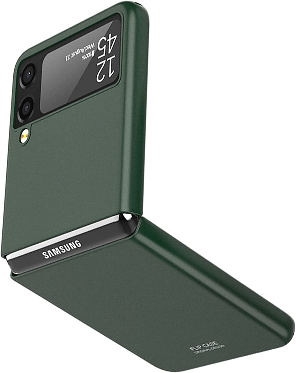 NINKI Ultra Slim Galaxy Z Flip 3 Case 5g 2021,Shockproof Solid PC Cover Thin Protective Case for Samsung Galaxy Z Flip 3 Case 5g,Compatible Samsung Galaxy Z Flip 3 5G Accessories Phone Case -Green