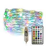 Vanthylit Fairy Lights USB Plug in String Lights with 100 RGB Led Christmas Lights Fairy String Lights for Party Wedding Festival Bedroom Dorm Table Decoration