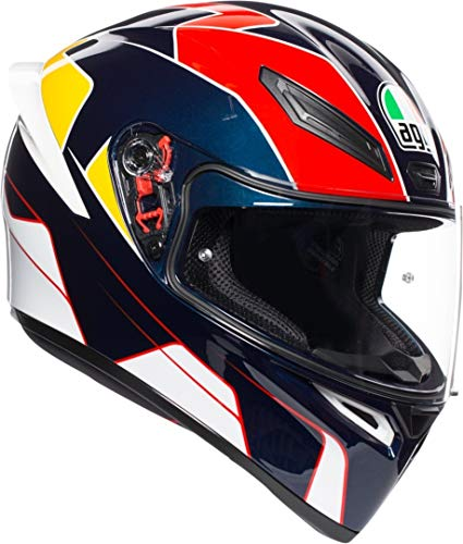CASCO K1 AGV MULTI PITLANE BLUE/RED/YELLOW ML