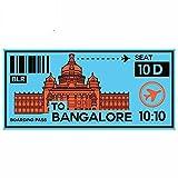 A/X 13 cm 6,3 cm para Billete de Tren a Bangalore, Pegatinas de Coche de Motocicleta a Prueba de arañazos a Prueba de Agua
