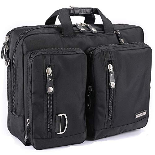 FreeBiz 17-Zoll-Laptop-Tasche Multifunktions -Laptop-Aktenkoffer -Rucksack mit Tragegriff und 17,3-Zoll-Laptop/Notebook/MacBook/Chromebook für Dell, Asus, Msi (17,3 Zoll, Schwarz)