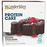 WonderSlim Low-Carb High Protein Dessert / Double Chocolate Cake Mix (7 Servings/Box) - Low Carb, Trans Fat Free