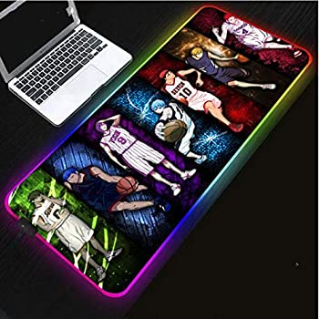 Mouse Pads Kuroko s Basketball Mouse Pad Gamer USB Led RGB Lighting Gaming Computer Mousepad XL Rubber Mouse Mat for Pc Laptop  Size_1 6003004Mm