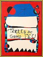 フレーム Joan Miro ジクレープリント キャンバス 印刷 複製画 絵画 ポスター (展ミロArtigas)