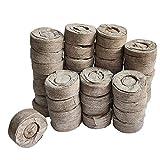 Nicetruc 50pcs turba pellets de Suelo Semillas Jiffy Arranque enchufes Evitar la raíz del Choque para el Interior del jardín Suculentas Planter (30 mm)