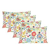 Bedlifes Pillowcase Set of 4 -Queen Size-Microfiber Pillowcase-Soft Pillowcase Breathable &Silky & Wrinkle Free-4 Pack Spring Floral