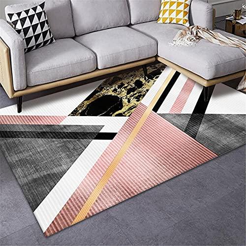 alfombras Baratas Grandes Alfombra Rosa, patrón de triángulo Fácil de Limpiar Silla...