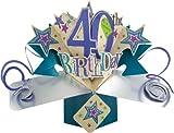 Second Nature Carte de vœux pop-up 40e anniversaire Motif étoiles