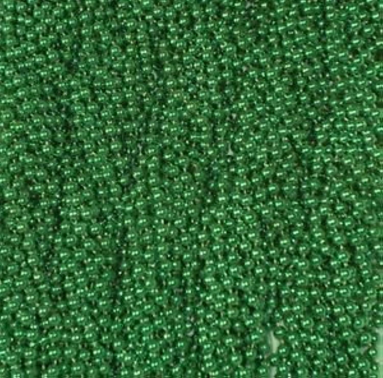 144 Grün Mardi Gras Beads Party Favors Necklaces Metallic 12 Dozen Lot by Party Supplies