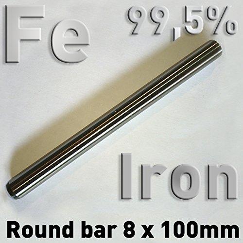 Rundstäbe reiner Metalle 8 x 100 mm zur vergleichenden Untersuchung von Werkstoffeigenschaften, Referenz-Proben (Eisen)