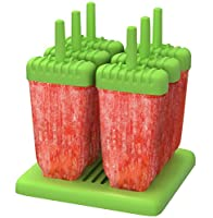 homiu popsicles molds stick features diy you are easy to clean includes drip tray dishwasher and freezer safe create your own (verde)
