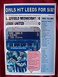 Sheffield Wednesday 6 Leeds United 0-2014-souvenir,