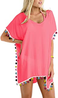 a9bd601e7c Amazon.com: Pinks - Cover-Ups / Swimsuits & Cover Ups: Clothing ...