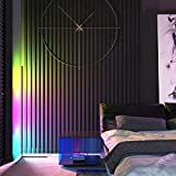 BERMOODA RGB Corner Lamp - Color Changing LED Floor Lamp with Remote - Full Spectrum with 356 Colorful Modes - RGB Corner Floor Lamp with Premium LEDs - Black