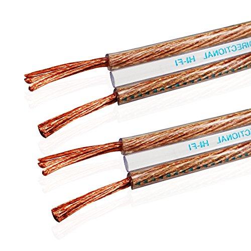 Van Damme 2 x 2.5mm Audio Cable de altavoz de interconexión doble (Definición Total Hi-Fi Direccional) 2 Metre / 2M