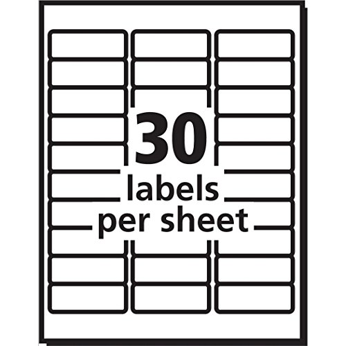 "Avery Address Labels with Sure Feed for Inkjet Printers, 1"" x 2-5/8"", 3,000 Labels, Permanent Adhesive (8460), White Photo #8"