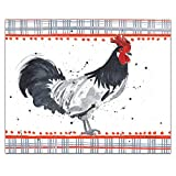 CounterArt The Crew Rooster Tempered Glass Counter Saver - 10' x 8'