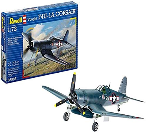 Revell- Vought F4U-1D Corsair Modellino, Scala 1:72, Multicolore, 03983