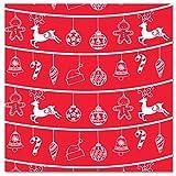 LA PAJARITA 40 tovaglioli di carta decorati, punta 40 x 40 cm, renno (rosso)