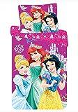 Funda Nordica Princesas Disney 2 piezas, 70 x 90 cm, 140 x 200 cm - Juego De Sabanas Princesas Disney