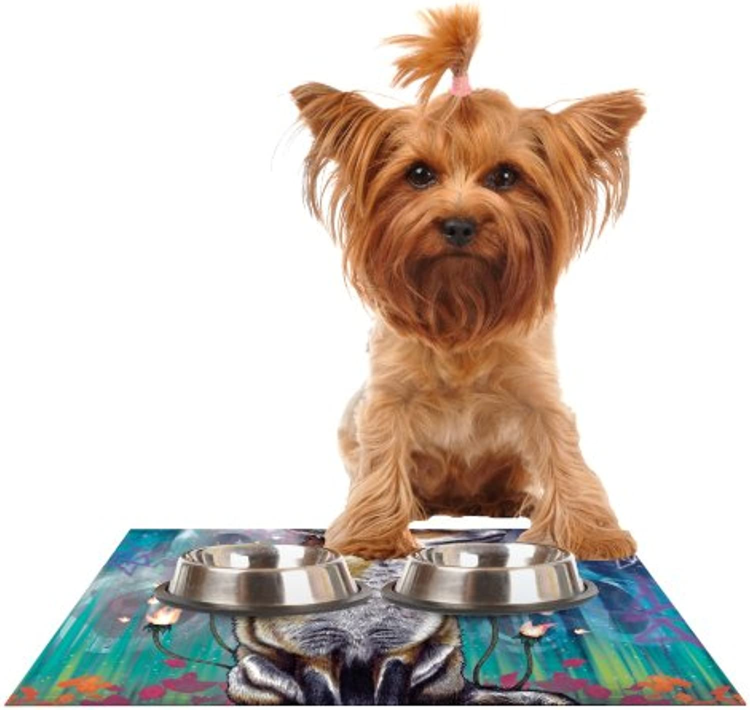 Kess InHouse Mat Miller There is a Light  Feeding Mat for Pet Bowl, 18 by 13Inch