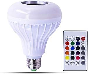 Smart Bluetooth 4.0 Music Speaker Lamp LED Bupounds Intelligent Light