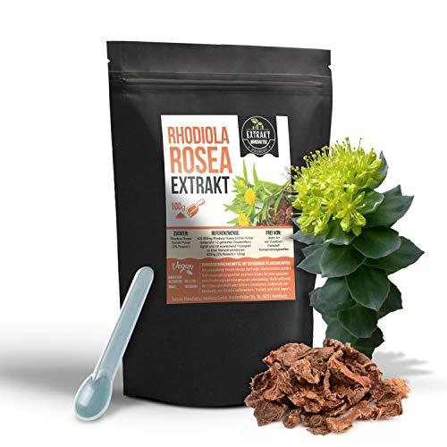Rhodiola Rosea Rosavin EXTRAKT 100g Salidrosid PULVER Rosenwurz ohne Zusatzstoffe (Pulver 100g)